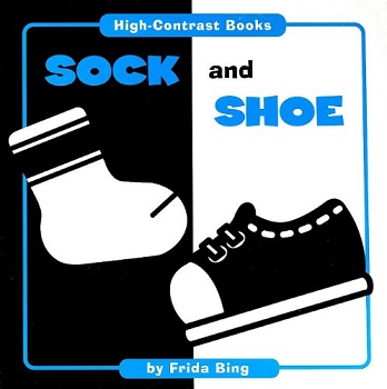 High Contrast Board Book - Sock and Shoe